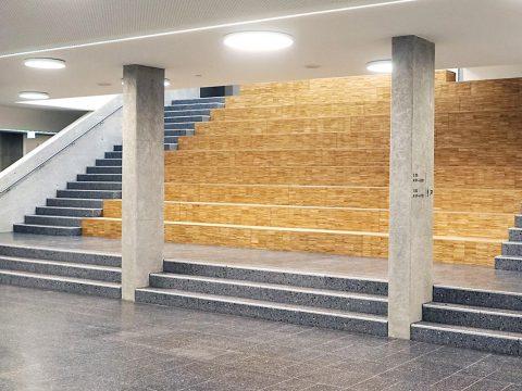 Schule, Heidelberg, Innenausbau, Aula,Koepke und Kasiske,Tischlerei Rügen,Moebel- und Ladenbau