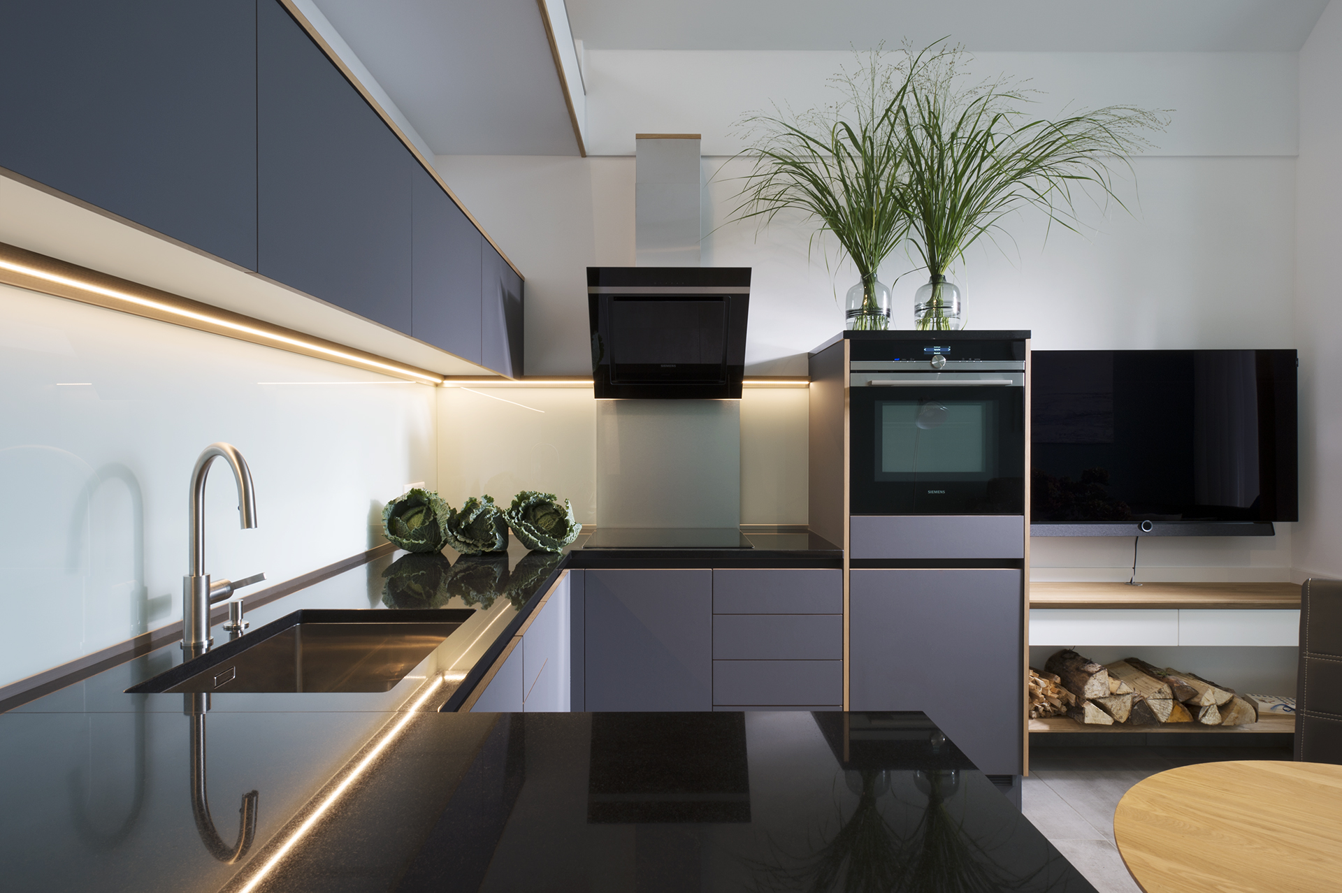 Küche, edel, grau, Koepke und Kasiske, Tischlerei Rügen
