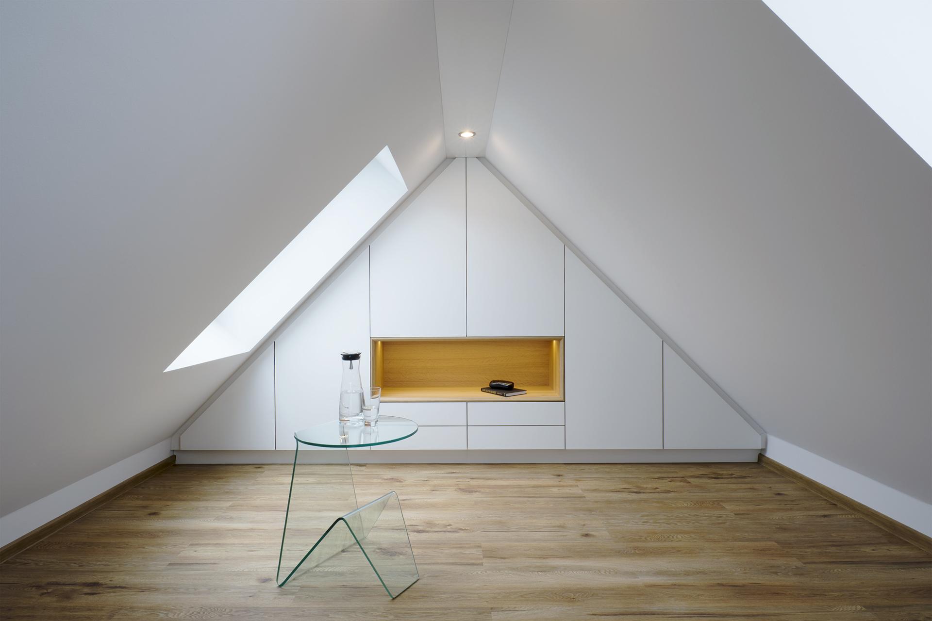 Dachboden, Spitzboden, Einbauschrank, Koepke und Kasiske, Tischlerei Rügen